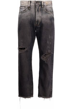 R13 Distressed ombre jeans