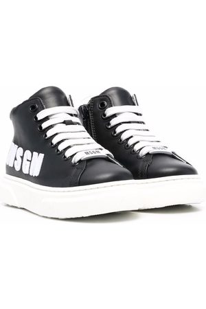 Msgm Boys Sneakers - Logo-print lace-up sneakers