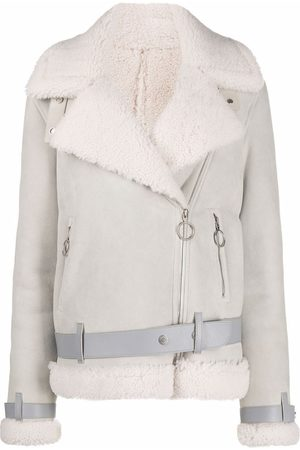 OFF-WHITE SHEARLING JACKET SAND NO COLOR