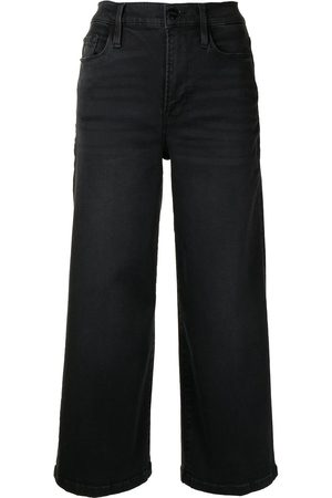 Frame Wide-leg denim culottes