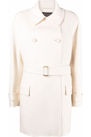 Loro Piana Double-breasted belted overcoat