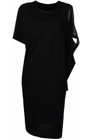 Issey Miyake Cold-shoulder asymmetric dress
