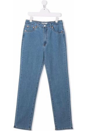 Levi's High-waisted straight leg jeans