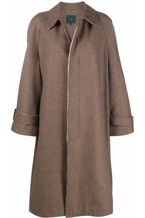 JEJIA Women Coats - Check oversized coat