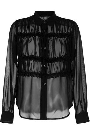 Comme des Garçons Semi-sheer pleated blouse