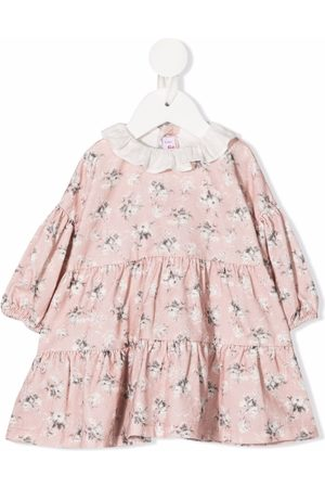 Il gufo Baby Casual Dresses - Floral-print long-sleeved dress