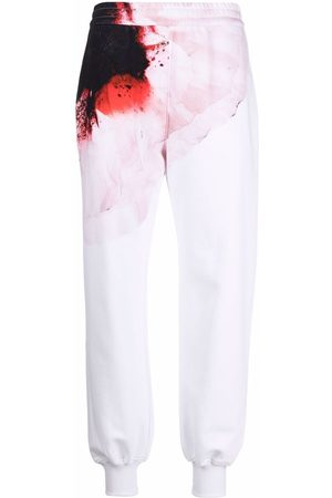 Alexander McQueen Women Pants - Anemome-print track pants