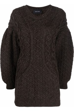 Simone Rocha Cable-knit puff-sleeve jumper
