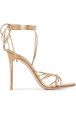 Gianvito Rossi Women Sandals - 105mm lace-up leather sandals