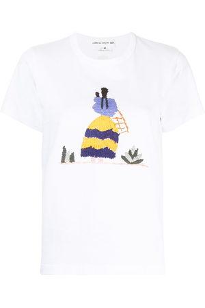 Comme des Garçons Embroidered-motif cotton T-shirt