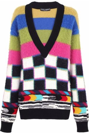Dolce & Gabbana Graphic-pattern knitted jumper