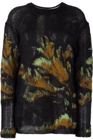 Paul Smith Women Jumpers - Botanical-print wool-blend jumper