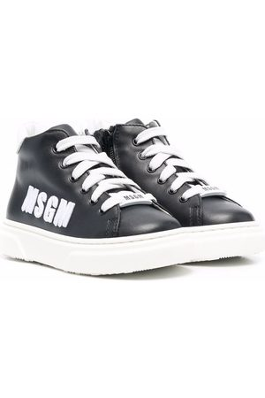 Msgm Side embroidered-logo sneakers