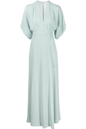 Reformation Draped silk wrap dress