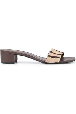 Reformation Women Sandals - Mandy animal-print mules