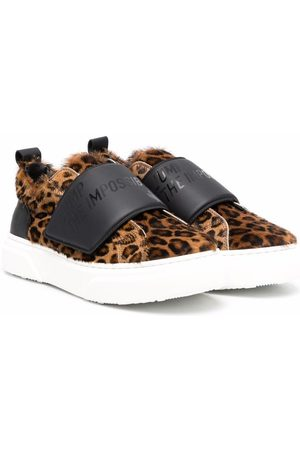 Dsquared2 Boys Sneakers - Leaopard-print slip-on sneakers