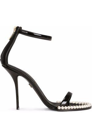 Dolce & Gabbana Women Sandals - Faux-pearl embellished open-toe sandals