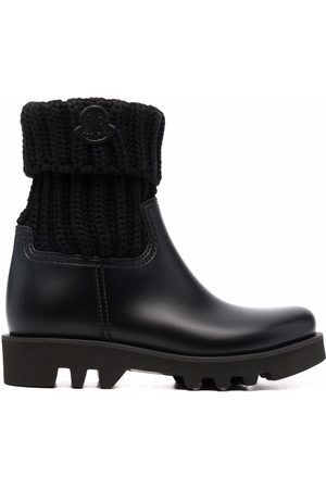 Moncler Logo-patch ankle boots