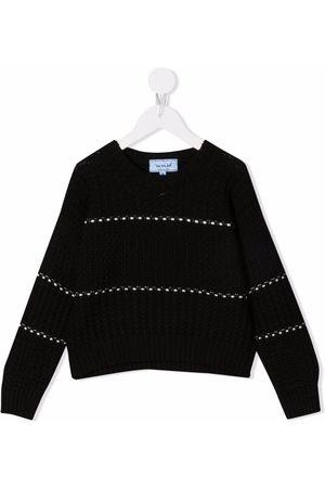 Mimisol Girls Jumpers - Striped wool jumper