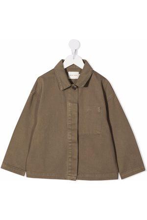 The New Society Plain button shacket