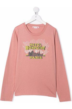 BONPOINT Girls Long Sleeve - City print T-shirt