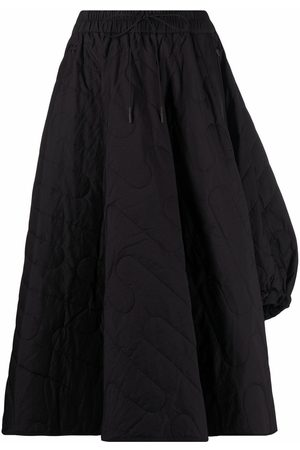 Y-3 Women Midi Skirts - High-waisted quilted midi skirt