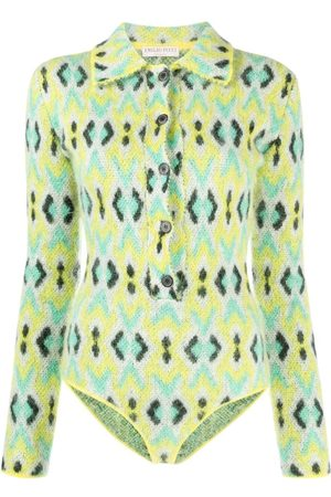 Emilio Pucci Snakeskin-print knitted bodysuit