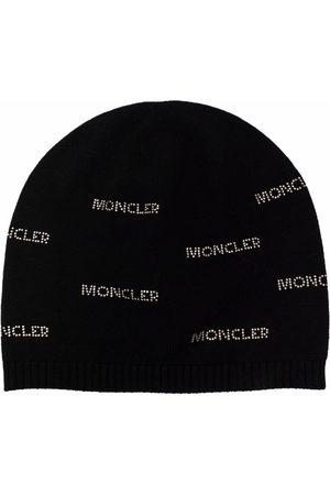 Moncler Monogram print beanie