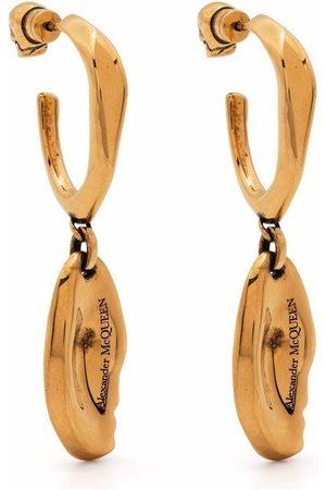 Alexander McQueen Molten drop hoop earrings
