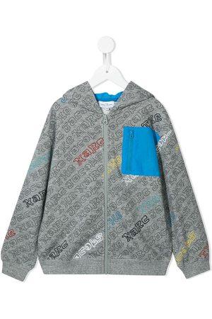 The Marc Jacobs Logo-print zip-up hoodie