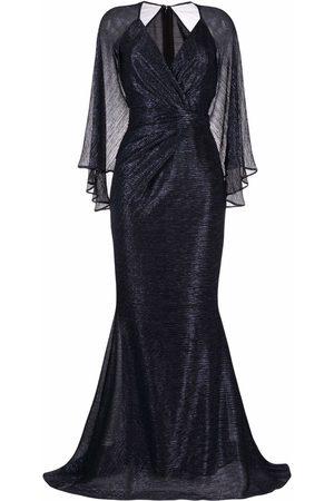 TALBOT RUNHOF Women Evening Dresses - Ruched-detailing lurex dress