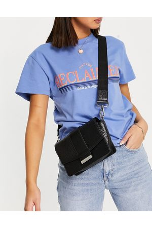 ASOS DESIGN Women Shoulder Bags - Grainy leather crossbody bag with webbing strap in