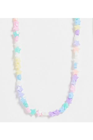 Pieces Exclusive beaded star necklace in multi