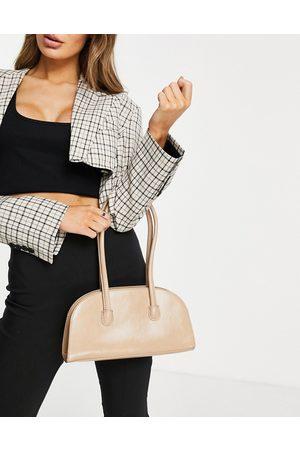 ASOS DESIGN Women Shoulder Bags - Elongated shoulder bag with long strap in -Neutral