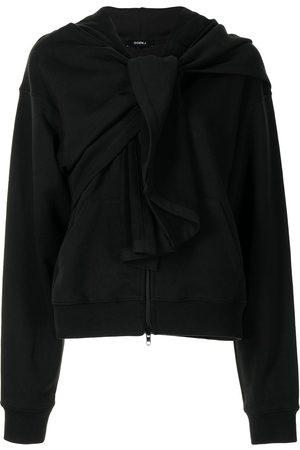 GOEN.J Knot detail zip-up hoodie