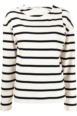 GOEN.J Double-layered stripe jersey top