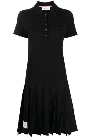 Thom Browne Pleated knee-length polo dress