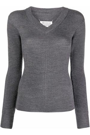Maison Margiela Four-stitch V-neck jumper