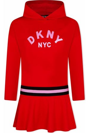 DKNY TEEN sequined hooded dress