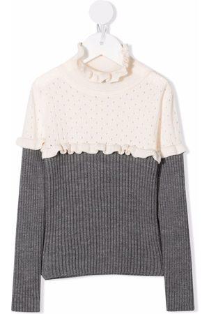 Mimisol Colour-block wool jumper