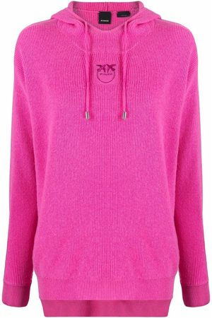 Pinko Women Jumpers - Embroidered-logo pullover hoodie