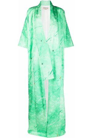A.N.G.E.L.O. Vintage Cult 1970s floral jacquard square-sleeved maxi coat