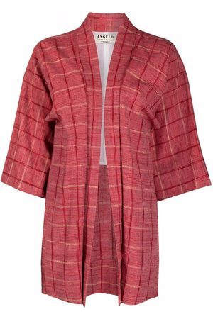 A.N.G.E.L.O. Vintage Cult 1970s square-sleeved checked jacket
