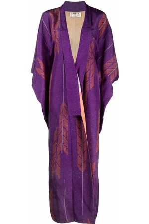 A.N.G.E.L.O. Vintage Cult 1970s arrow pattern square-sleeved maxi-coat