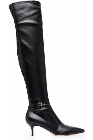 Gianvito Rossi Buckle detail knee boots