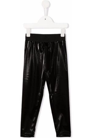 Mimisol Faux-leather elasticated-waist leggings