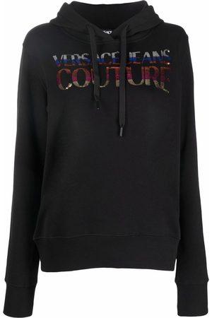 VERSACE Sequin-logo hoodie