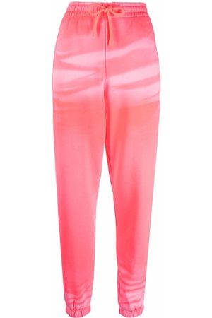 Alexander Wang Garment-dyed lounge track trousers