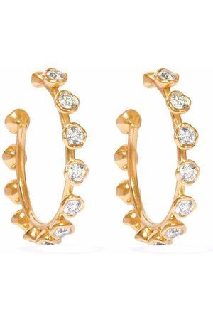 ANNOUSHKA 18kt yellow Marguerite diamond hoop earrings