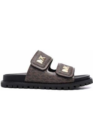 Michael Kors Monogram-print double-strap sandals
